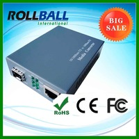 100Base-TX y 1000Base-T monomodo sc convertidor de fibra optica a cobre