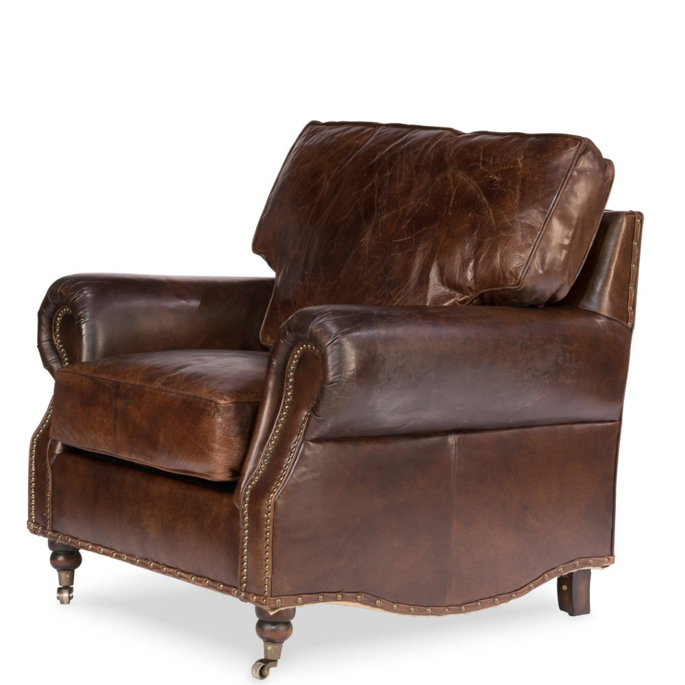 Vintage Loft Genuine Leather Club Casters Chesterfield Chair Buy Chesterfield Chair,Vintage