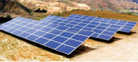 Ground-mounted solar power system