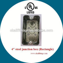 Surface extension pre-galvanized electrical floor plug sockets box for cable distribution