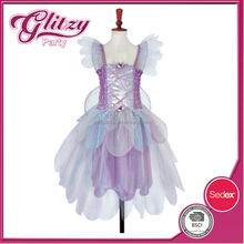FD-01 2015 New fashion Lavender color lilac fairy dressing up costumes for girls