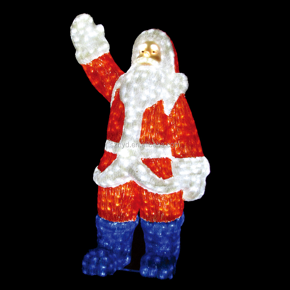 Santa Claus Lawn Decorations: Lighted Santa Claus Outdoor Christmas Decorations