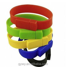 China wholesale 8GB wrist band silicone bracelet usb flash drive