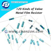 resistance 1% metal oxide film resistor 1/8W 1/6W 1/4W 1/2W 1W 2W 3W electrical resister