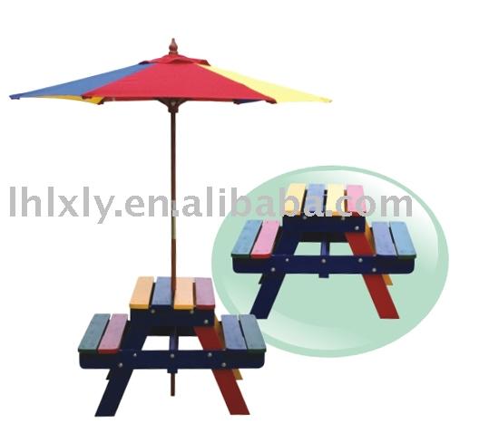 Children 39 s picnic table with umbrella - Children s picnic table with umbrella ...