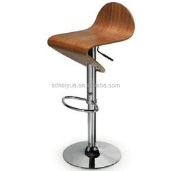 Kitchen Plywood Adjustable Swivel Bar Stools Chairs HY2020