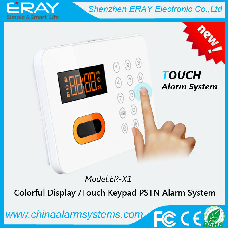Wired home alarm system burglar smart security telephone for Smart home alarm system