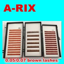 NO.46 0.05 0.07 brown colorful eye lashes brows