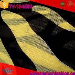 silver metallic nylon elastic custom stylish knit technic fine nylon mesh fabric