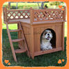 Cheap solid wooden outdoor made in china dog kennel