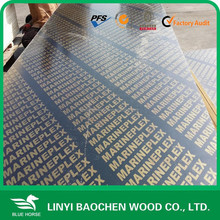 Building construction wooden material 12mm / Linyi shuttering plywood manufactuer