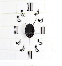 promotional musical note modern design acrylic wall clock