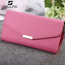 Good Price Lady Genuine Leather Wallet Ladies Clutch Bag with nice quality