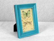 Gorgeous color Blue and Pink Vivid Wood Picture frame For Valentine Day Gifts