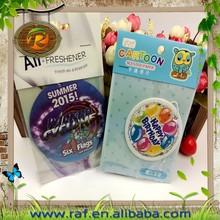 car accessories paper air freshener, Customized Logo round shape car perfume