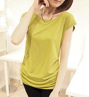 elegant womens suits, bright color chiffon blouse, crop top wholesale