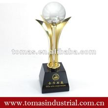 novelty brass figurines trophy cup for win-win cooperation