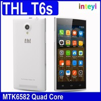 "THL T6S 5.0"" MT6582 Quad Core Mobile Phone Android 4.4.2 8MP Camera 1GB RAM 8GB ROM 3G WCDMA Ultra thin Dual SIM GPS"