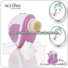 Acetino New products Rechargeable Waterproof Sonic and Rotation Face Cleaning Brush