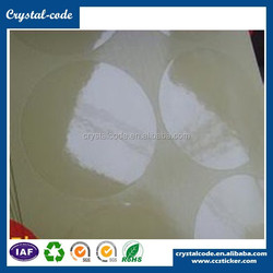 Anti counterfeit acrylic pressure adhesive peel off destructible eggshell vinyl materials label