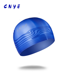 Customized printed soft silicone ear swimming cap TQ-1205#