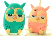 Cell phone case cute owl 3d silicone cover case for iphone 5 5s,for iphone 5s case cover ,for iphone case 5s 4s 6 silicone