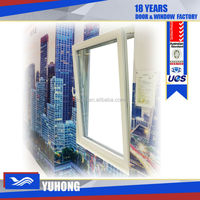 Swing opening tilt and turn pvc european window with screen