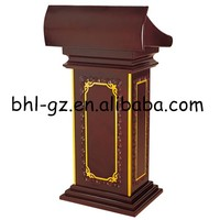 Guangzhou wholesale hotel furniture supplies wooden church pulpit for sale wooden lectern pulpit wooden church rostrum T29