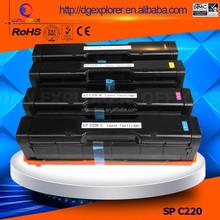 Hot Sale Color Toner Cartridge For Ricoh SP C220 toner cartridge SPC 240 Toner Aficio C220N C222DN C220S C221SF 220 221