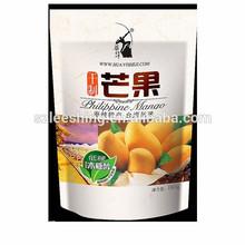 Custom printing zip lock bag plastic bag stand up pouch snack packaging