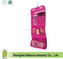 Nylon mesh folding travel Portable organizer/promotional cosmetic bag