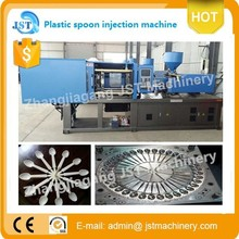 Horizontal plastic spoon injection molding manufacture