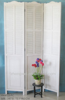 3Pieces Folding Antique White Wooden Room Screens/Room Divider for Home Decor