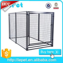 Large outdoor modular galvanized steel dog kennel