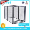 Large outdoor modular galvanized steel dog kennel