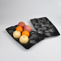 39x59cm Disposable Compartment Plastic PP Apple Tray
