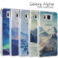 Replacement shells for phone landscape painting design for SAMSUNG Galaxy alpha Grand Prime G530 A3 A5 A7 phone cases !!!