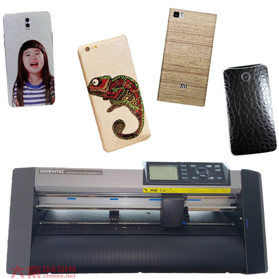 Mini Sticker Cutting Plotter With Custom Mobile Software For Daqin Skin Machine