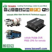 4 channel Mobile DVR Used for Tanker / Bus / Taxi / Ship / fleet GPS tracking / 3G , GPS Mobile Car DVR