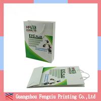 Pantone Color Printing Advertising Printed Shopping Paper Bags