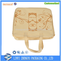 110g leather non-woven leather ,bag pvc transparent bag rope handle Printed recyclable non woven bag cutting and sewing machine