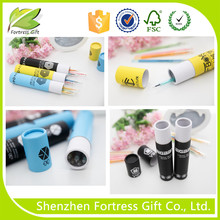 cheap promotional packaging pencil paper tube box