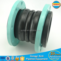 flange connection flexible double sphere rubber joint