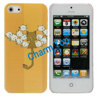 Lovely Cat Plastic Case with a Mirror for iPhone 5