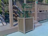 510x390x400mm frstech composite wood plastic large size outdoor garden plant pots plastic pots