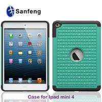 Coating tear pc+black silicone smart phone case for iPad mini 4 cover