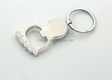 Hot selling custom metal name round keychain