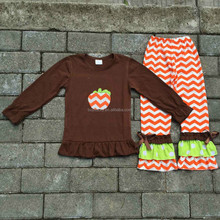 New design kid ruffle boutique outfits halloween baby clothes wholesale 2015 girl halloween costume