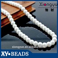 2015 Glass Pearl Pattern , Custom Fashion Diamond Jewelry , Imitate Glass Pearl Beads Necklace