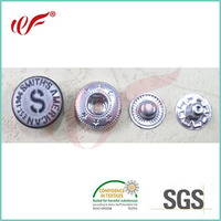 wholesale bulk metal snaps buttons with high quality